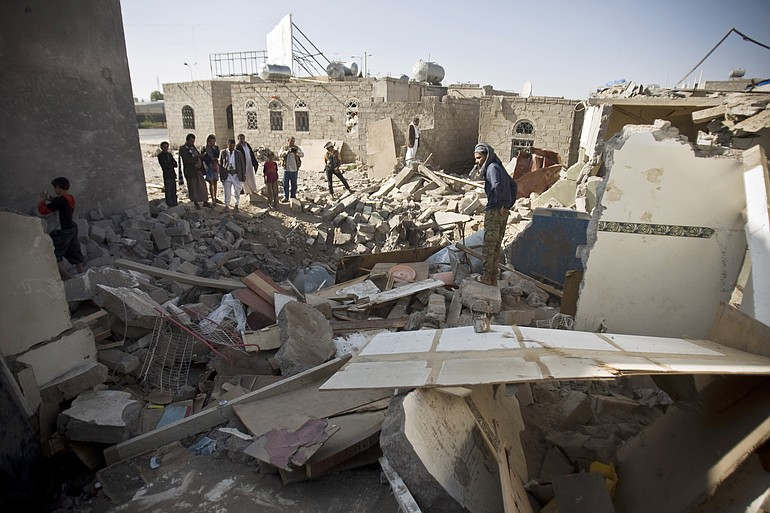 Bombing of Sana'a, Yemen by SAUDI coalition, 2