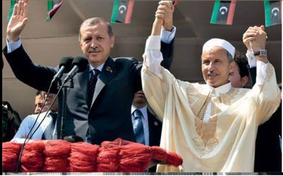 BROTHERHOOD's Erdogen of Turkey and traitor-infiltrator Jalil