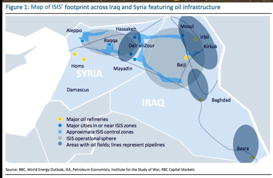 DAASH's imprint across Iraq & SYRIA