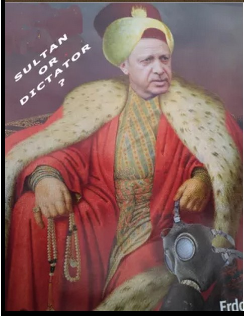 Erdogen as pascha dictator