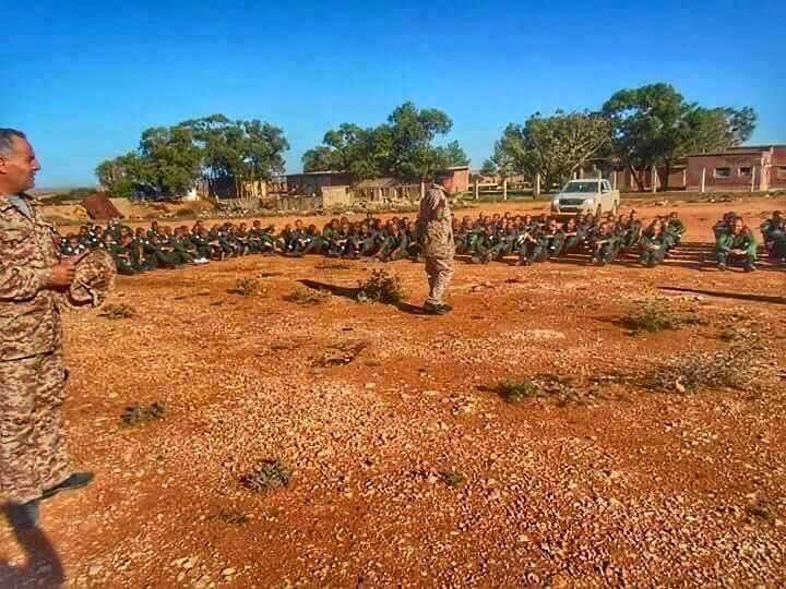 LIBYAN ARMY training in al-BRIER--CASABLANCA, 2