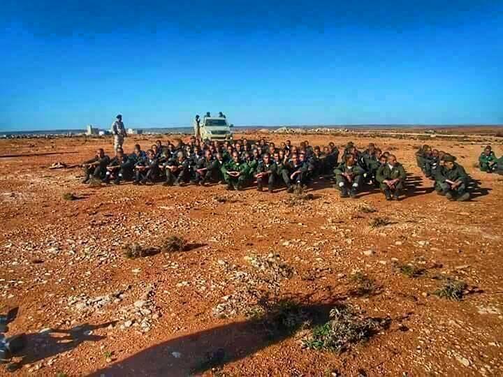 LIBYAN ARMY training in al-BRIER--CASABLANCA, 4