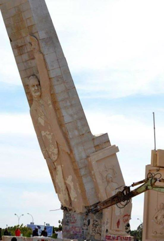 Misurata rats tear down the Nasar Memorial