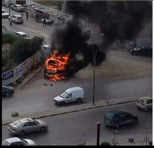Ovicoa fire in front of the passengers of the Pillars of Tripoli