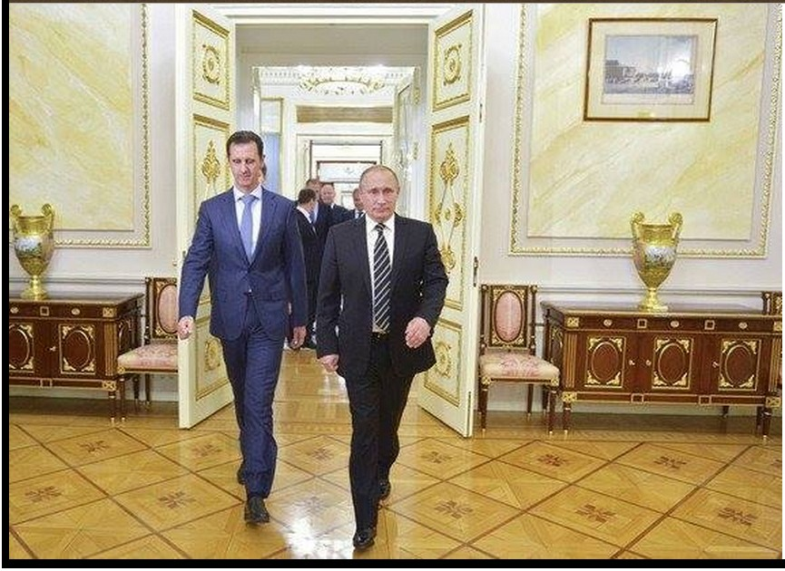 Putin and Assad in Russia
