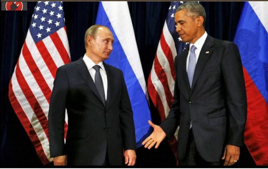 Putin refuses to shake the devil-OBAMA's hand