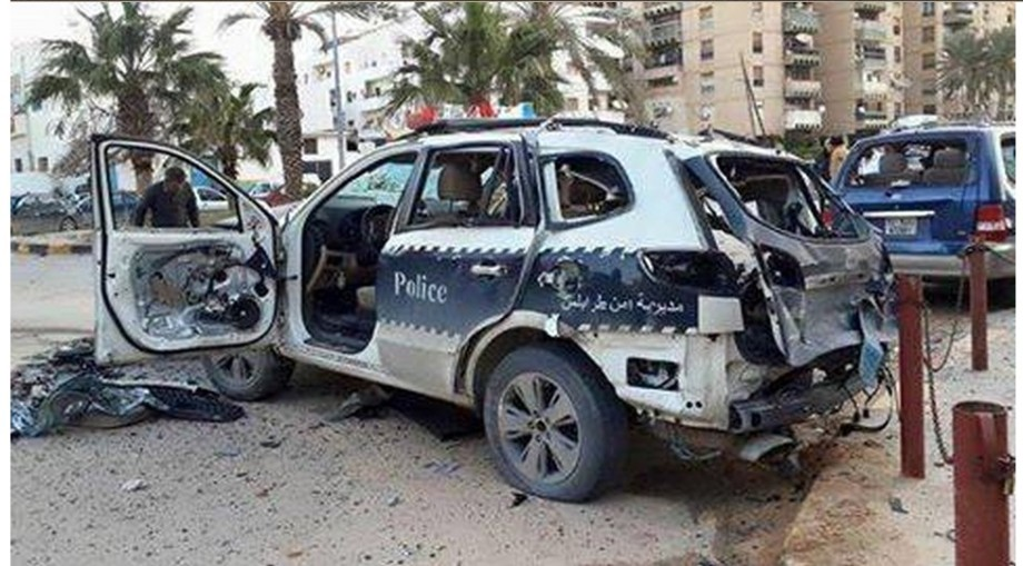 Tripoli Police destroyed by the Brotherhood ruling Council