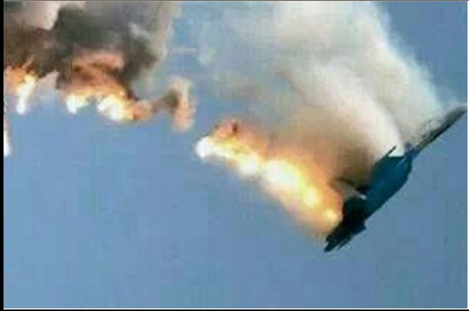 Turkey shoots down Russian warplane in skies over northern Syria known to Turks as the Turkmen Mountains