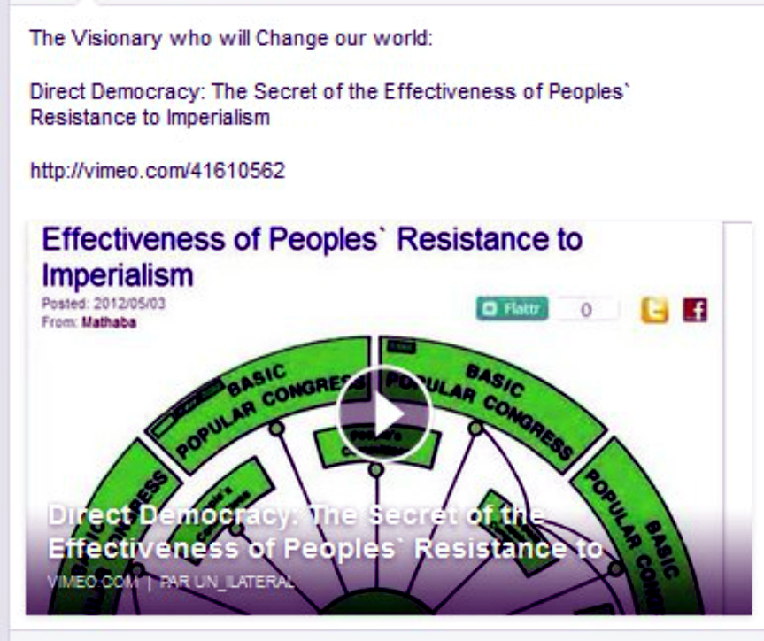 Vimeo video on direct democracy