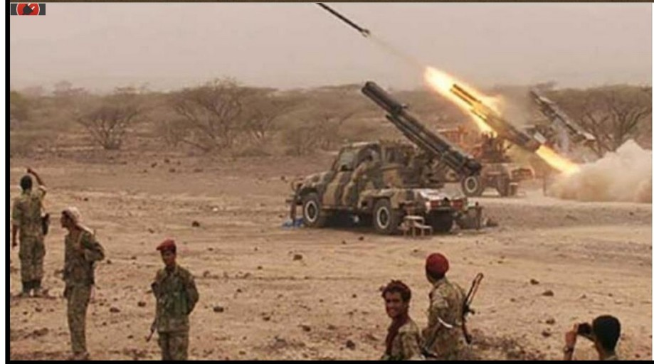 Yemeni forces launch missiles at Saudi positions