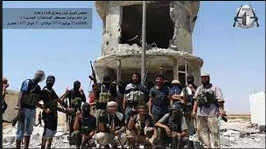 ANSAR al-SHARI rats in Benghazi showing WiSAM bin HUMAID