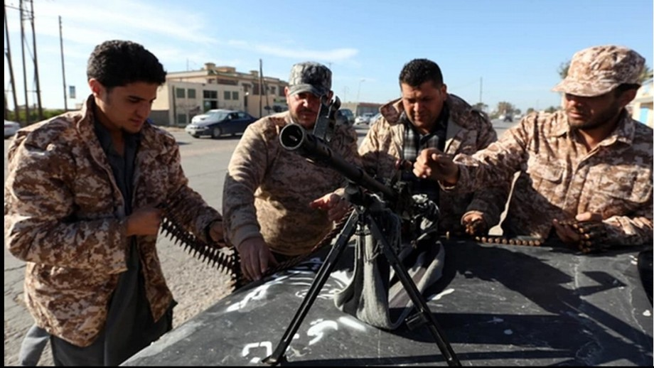 'Dawn Libya' fighters at a TRIPOLI checkpoint