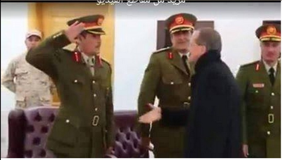 devious Martin Kòbler greets Libyan Army officers in Prairie