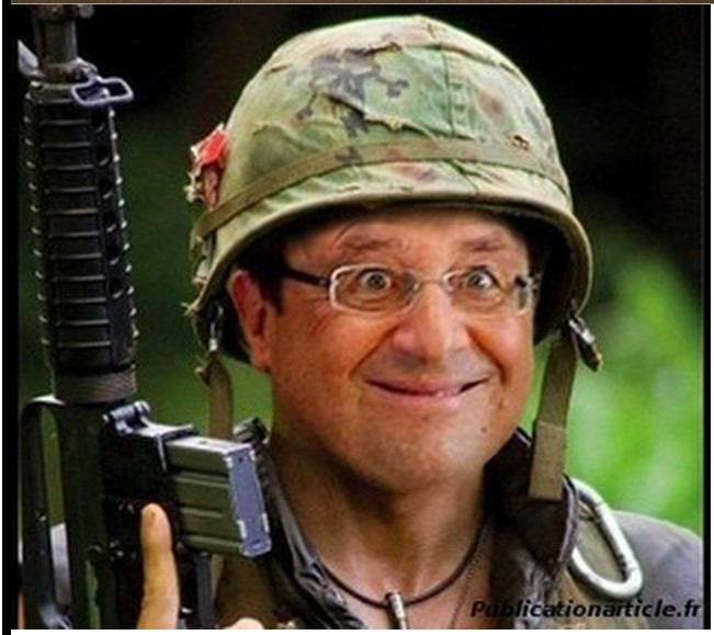 François Hollande, man of war