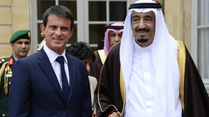 French PM Valls and SAUDI KING SALMAN