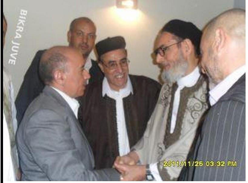 GUMA el-GHEMATY lovingly with MB POISON RAT 'NATO-MUFTI' ZADEK GHARYIANI
