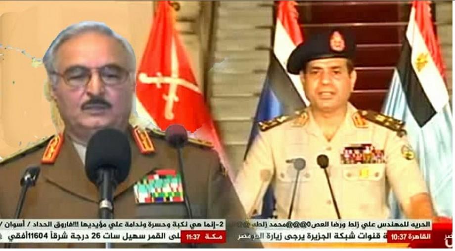 Hftar and al-Sisi