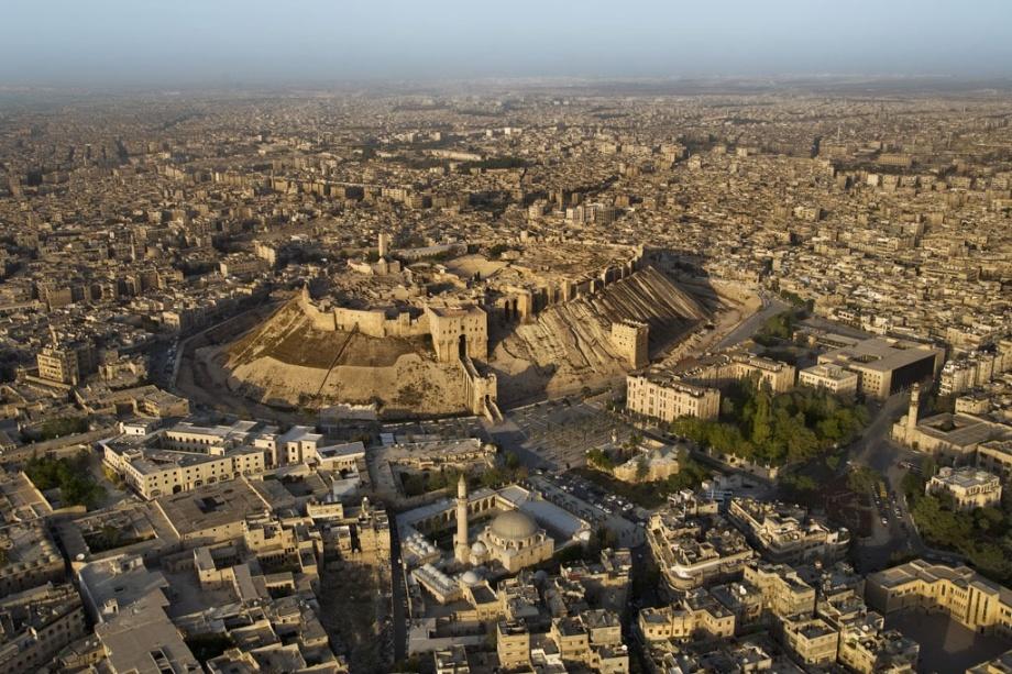 La citadelle et la ville d'Alep, Syrie