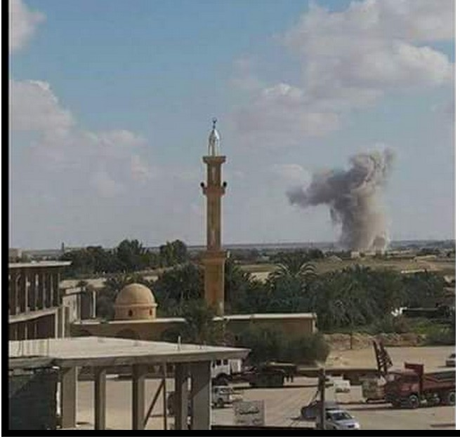 Libyan Airforce bombed sites of DAASH in south AJDABIYA