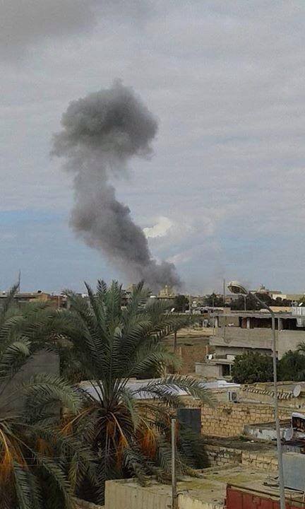 Libyan Airforce bombs terrorists in Ajdabiya