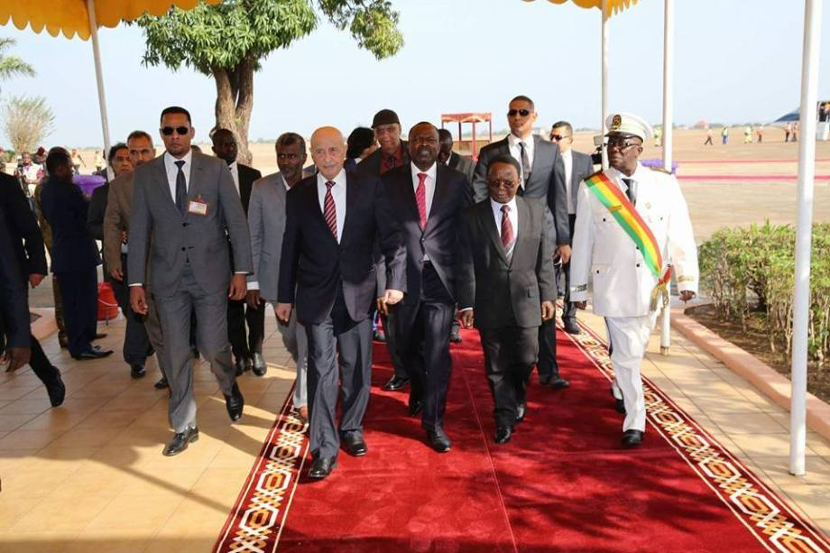 'MAJLIS al-Nuwaab' adviser 'Aguila Saleh Issa' and his accompanying delegation arrive in the 'Republic of Guinea Conakry'
