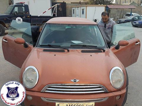 Mini Cooper is returned to its owner in Janzour