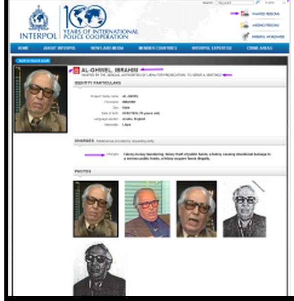 Ibrahim al-Ghhwell wanted by Interpol