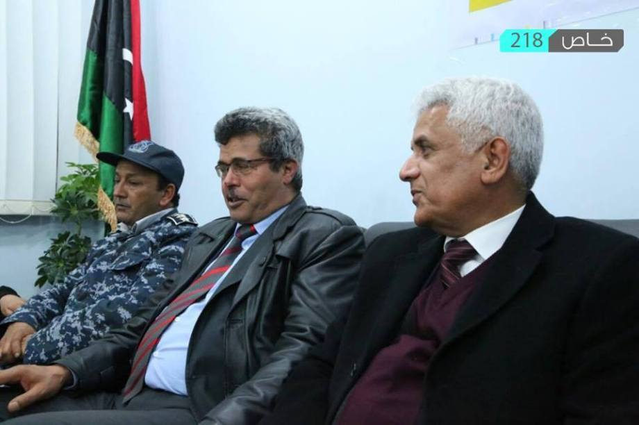 Minister of Interior and Labour and Social Affairs and the President of the Transportation Authority of the interim government arrive in ZINTAN, 3