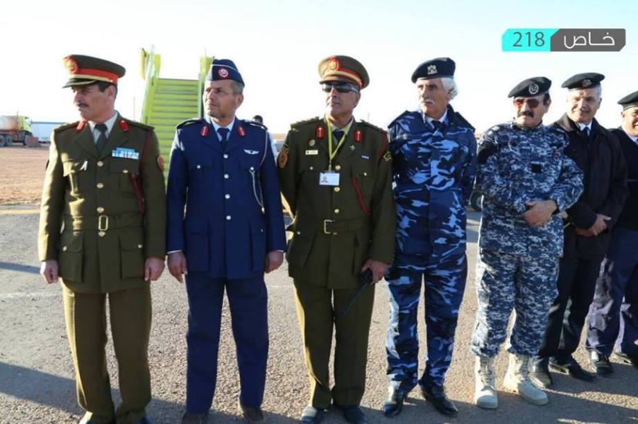 Minister of Interior and Labour and Social Affairs and the President of the Transportation Authority of the interim government arrive in ZINTAN