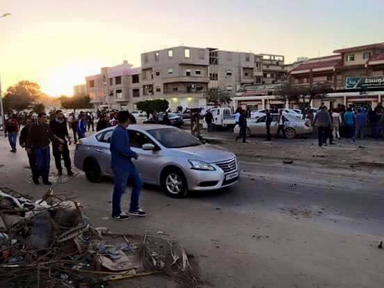 mortar shells fall by Libyan Hospital, Benghazi, 2