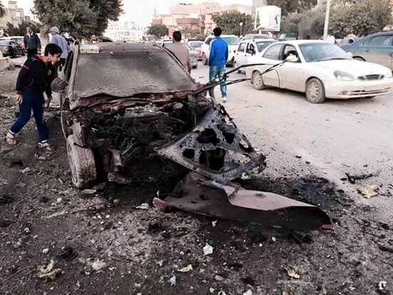 mortar shells fall by Libyan Hospital, Benghazi, killing German family in their car