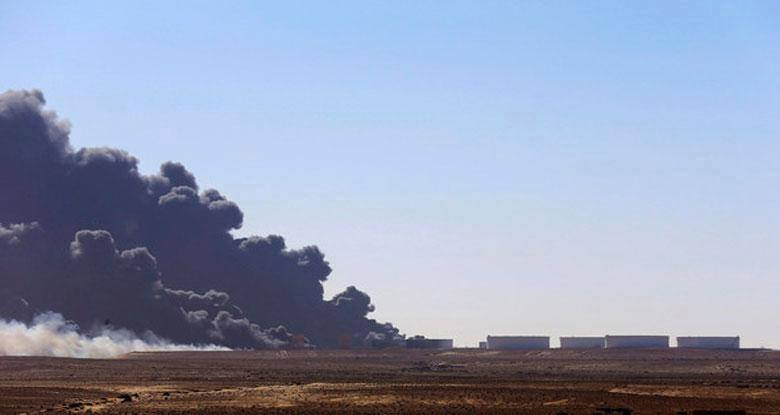 Oil Crescent on fire again from DAASH misiles