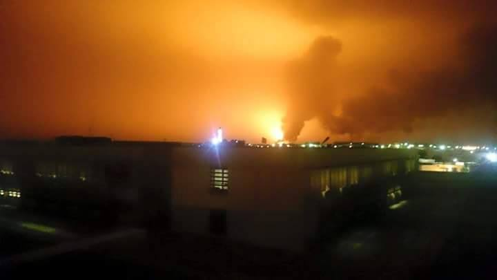 Sky over Ras Lanauf after one Sidra tanks explosion