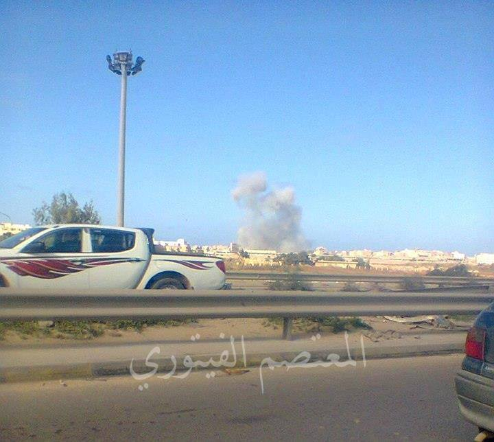 smoke billowed after al-Kasv air on the eastern axis (BENGHAZI)