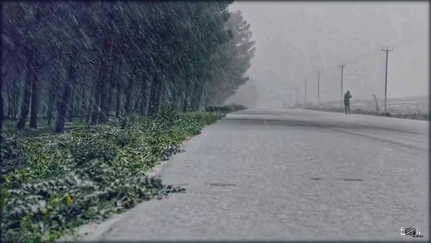 Snow in CASABLANCA, 18 JAN. 2016