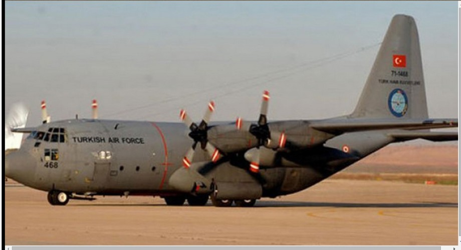 Turkish Military Plane lands at MISURATA AIRPORT